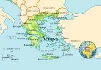 Thassos on the map of Greece